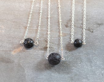 Lava Necklace, Essential Oil Necklace, Lava Stone Necklace, Oil Diffuser Necklace, Diffuser Necklace, Aromatherepy Necklace, Lava Bead