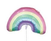 Rainbow Balloon || Unicorn Party Balloon || Pastel First Birthday Party Balloon || Birthday Party St Patricks Day || Rainbow Mylar Balloon