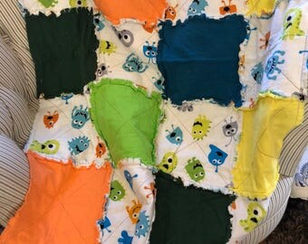 Rag Quilt Baby - Snuggle Monsters