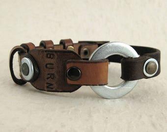 409 Steampunk Burning Man Statement Bracelet Recycled Jewelry Industrial Machine Age