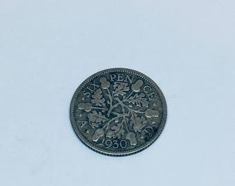 1930 Wedding Sixpence Coin - Lucky Wedding Sixpence for the Bride