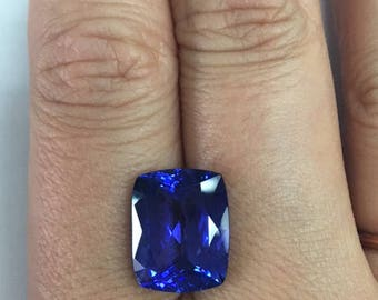 Natural Tanzanite Gemstone Cushion Cut 10ct AAA Gem Quality