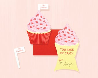 Valentines Day Cupcake Candy Favor Box Kit Cupcake Box Sweet