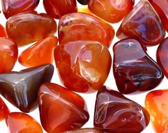 Bulk 1lb Tumbled Carnelian Gemstones, Bulk Wholesale Carnelian Agate Tumbled Stones, Carnelian Gemstones, 1 Pound Tumbled Gemstone Wholesale