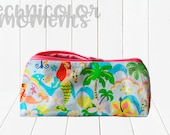 Zippered Flat Bottom Case Mermaid with Palm Trees