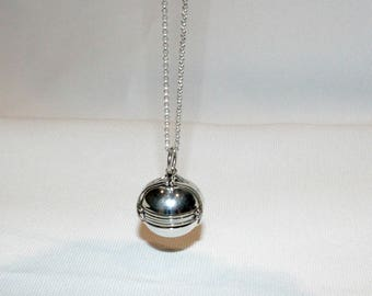 Sterling Silver Photo Ball and Chain