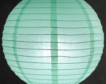 9x Mint Paper Lanterns with LED Bulbs for Wedding Engagement Anniversary Birthday Party Hanging Lighting Decoration