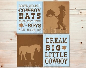 Boots Chaps and Cowboy Hats Toddler boy bedroom Dream big little Cowboy Boy nursery art Baby decor Little Cowboy nursery art Boys room #1529
