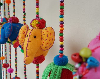 Elephant set C 100% Handmade Cute Doll Beads Curtain For Home Decoration (For Window)