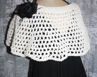 short poncho or heater shoulder cotton/acrylic AUDREY