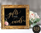 """Cards and Gifts -  for the Bride and Groom (4 STYLES in 8""""x10"""" & 11""""x14"""") DIGITAL PRINT - Wedding Cards and Gifts Printable -"""