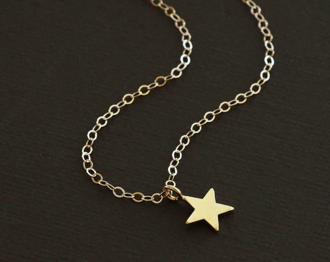 Tiny Star Necklace - Small Star Necklace - Gold Star Necklace - Silver Star Necklace