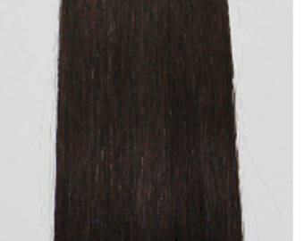 """Miss Flirty Remy Hair Extensions Clip-In 22"""" Long Dark Brown #2"""