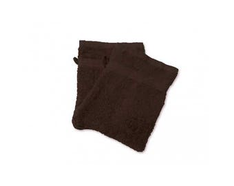 Cotton washcloth sponge chocolate