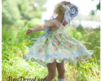 Ava dress -         Toddlers First Birthday Dress - Paisley Dress - Baby girls Birthday Dress - special occasion dress - Flower Girl Dress