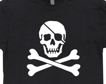 Jolly Roger T Shirt Jolly Roger Shirt Skull and Crossbones Shirt Pirate Flag Shirt Vintage Pirate Shirt Mens Womens Kids Cool Sailing Shirt