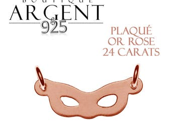 925 sterling silver plated spacer connector finish rose gold mask
