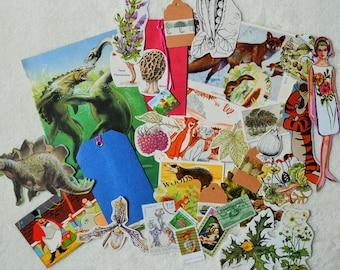 30 Piece Snail Mail Kit, Snail Mail Ephemera, Junk Journal Kit,  Journaling Supplies