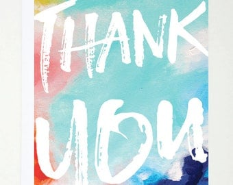 Thank You, Card, Printed, Greeting Card, Abstract, Quote