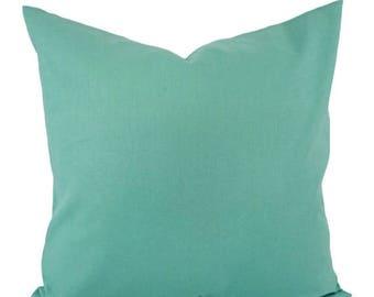 15 off sale solid aqua decorative pillow cover teal pillow cover linen pillow
