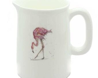 Mini Jug - Flamingo - Fine Bone China - Made in England