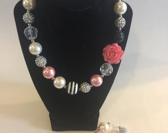 Babies and children's chunky bead necklace