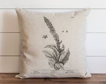 Botanical Hig Taper 20 x 20 Pillow Cover // Everyday // Herbs // Gift // Accent Pillow
