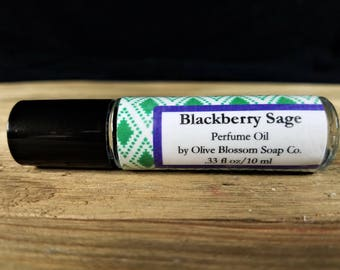 Blackberry Sage Perfume Oil, Roll On Perfume, Women's Perfume, Perfume Oil, Gift for Her, Handmade Perfume, Perfume