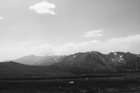 Fine Art Photography | Trail Ridge Peak 3 Black and White  Print | Wall Art