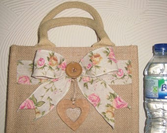 pretty summer jute bag