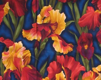 Floral Fabric, By the Half Yard, Hawaiian Fabric, Tropical Fabric, Multicolor, Flowers, Quilt Fabric