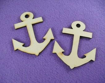 2 anchors wooden /  8 x 6,5 cm (13-0003D)