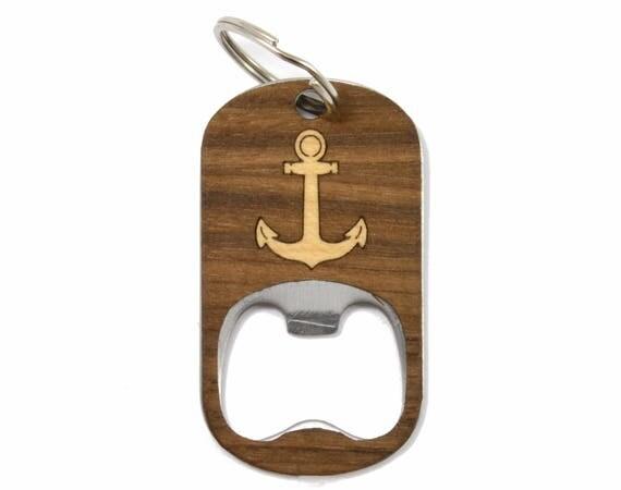 anchor bottle opener keychain wood gifts beer gifts beer. Black Bedroom Furniture Sets. Home Design Ideas