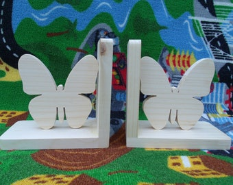 Handmade, eco-friendly wooden butterfly bookends, kids room decor, butterfly bookends, wooden bookends, nursery decor, shower gift, bookends
