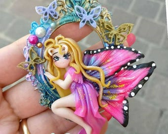 Fairy Cameo Handmade Polymer Clay
