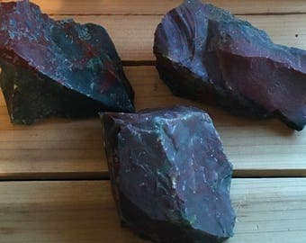 Natural Raw Bloodstone Stone,Courage, Calms the Mind, Powerful Healing, Healing Stone, Spiritual Stone, Gemstone