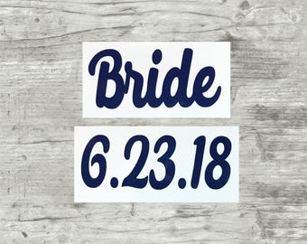 Bridesmaids Flip Flops Decals ONLY, Bridal Party Flip flops, Bridal Party Gifts, Spa Day, Bachelorette Party Gifts