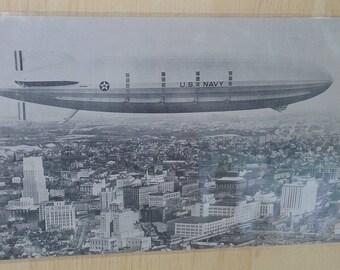 Blimp Zeppelin postcard new old stock collection vintage lot
