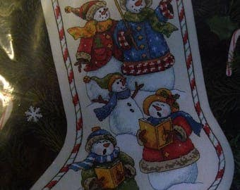 Dimensions Snow Carolers Stocking