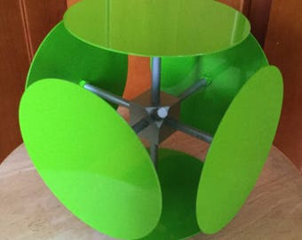 Cool Space Age Mid Modern Display Cube, Lime Green