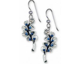 Bluebonnet Earrings Jewelry Sterling Silver Handmade Texas Wildflower Earrings BB6-SP