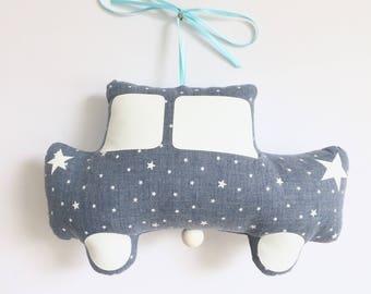 Mobile Musical Voiture Trabant  Jules Denim - Bleu Ciel - Boite à musique - Une étoile dans ma cabane