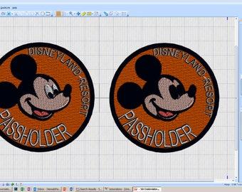 Disneyland Resort Passholder Patch - iron-on