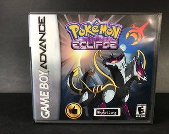 Pokemon Eclipse ROM Hack Fan Made Game Gameboy Advance GBA Custom Case