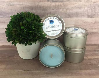Wood Wick Soy Wax Candle - Twisted Peppermint (type)