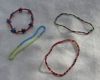 Lot Of Colorful Seed Bead Stretch Bracelets Restring Repurpose