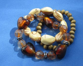 Lot Of Stretch Bracelets Restring Repurpose