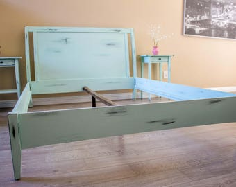 Vintage Queen bed frame with matching Night Stands