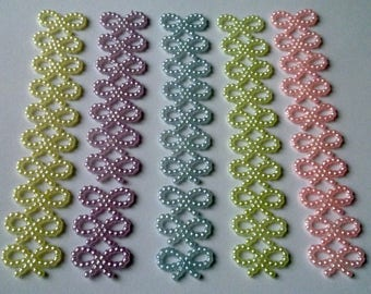 50 beads embellishment. DIY decoration. 12 X 9 mm