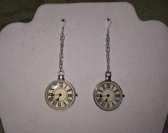 Clock earrings